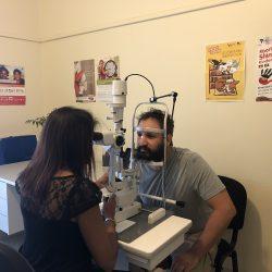 ACO visiting Budja Budja Aboriginal Cooperative as part of the RWAV Visiting Optometry Scheme