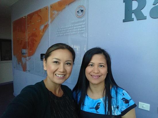 Audiologist, Seray Lim with Ramahyuck Regional Hearing Coordinator, Neva Castro